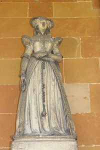 A statue of Bess of Hardwick, at Hardwick Hall.