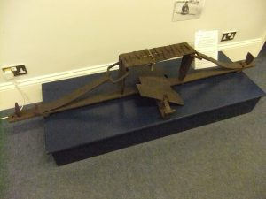 A man-trap in the closed position