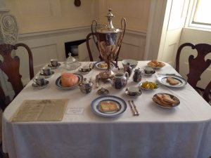 Breakfast laid out in the downstairs parlour.