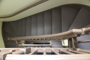 The servants' staircase from above.