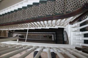 The main staircase from above.