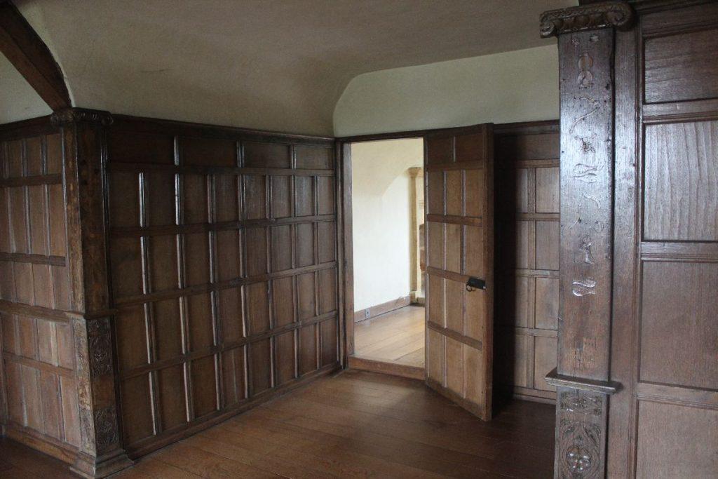 Am corridor on the upper floor of Barrington Court