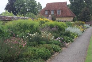 A herbaceous border at Barrington Court